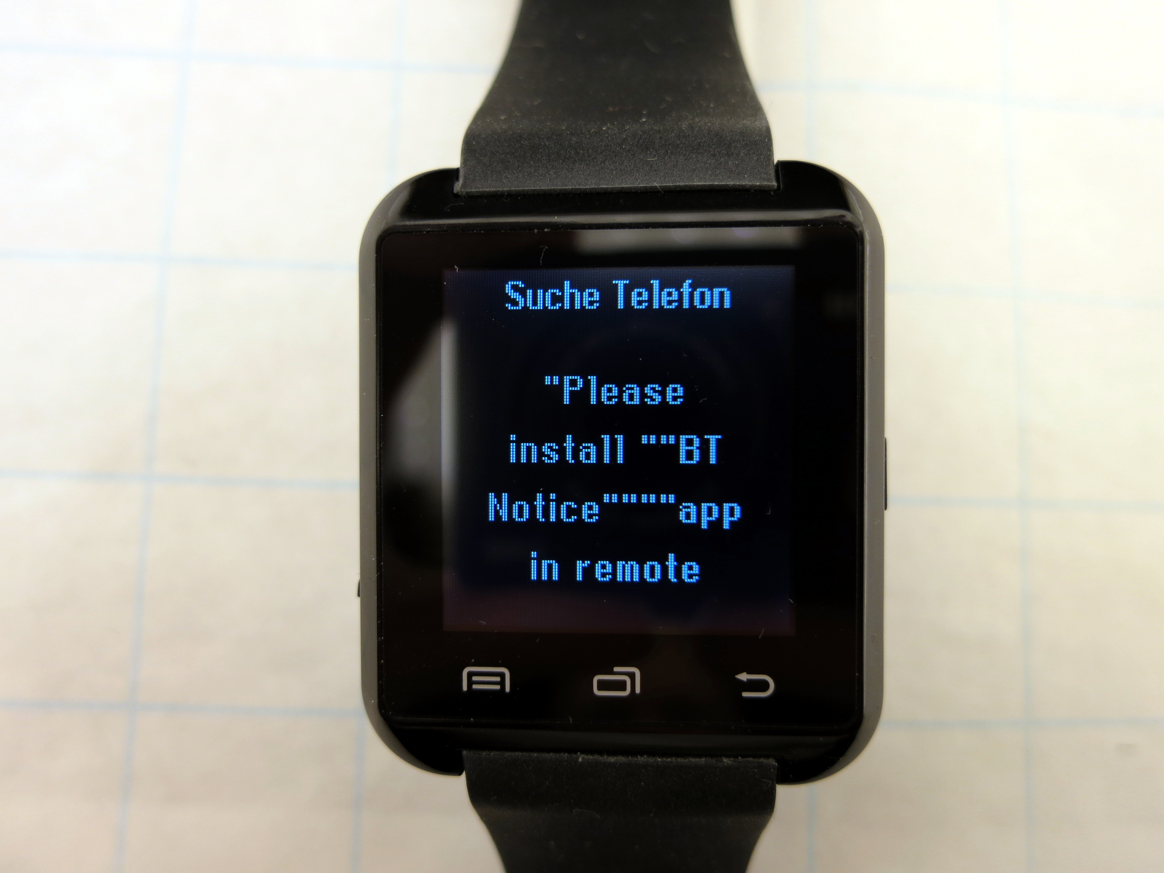 apk bt notifier for smartwatch