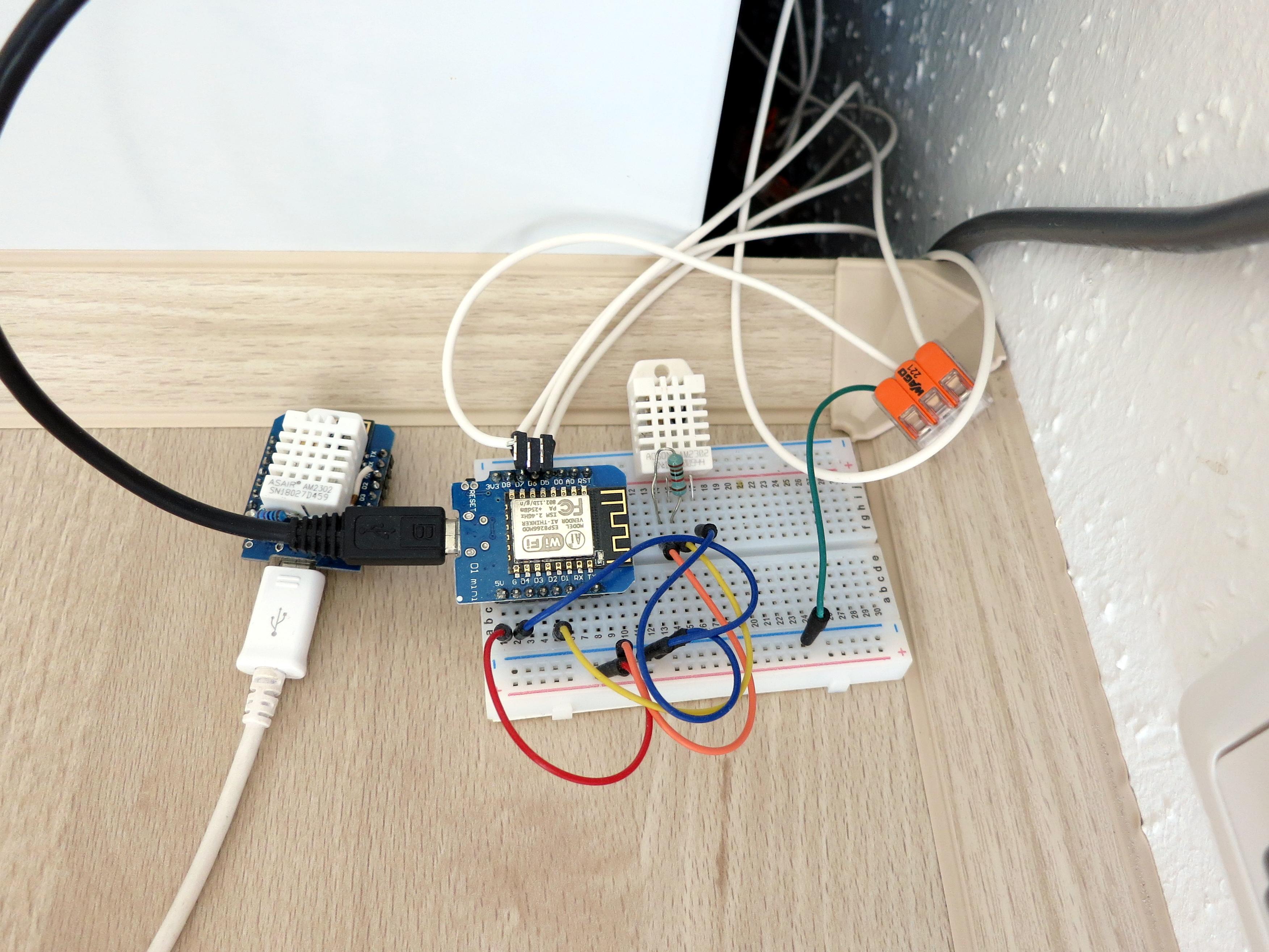 DHT22 WiFi (ESP8266) temperature/humidity loggers (#P7) – Wan Hung