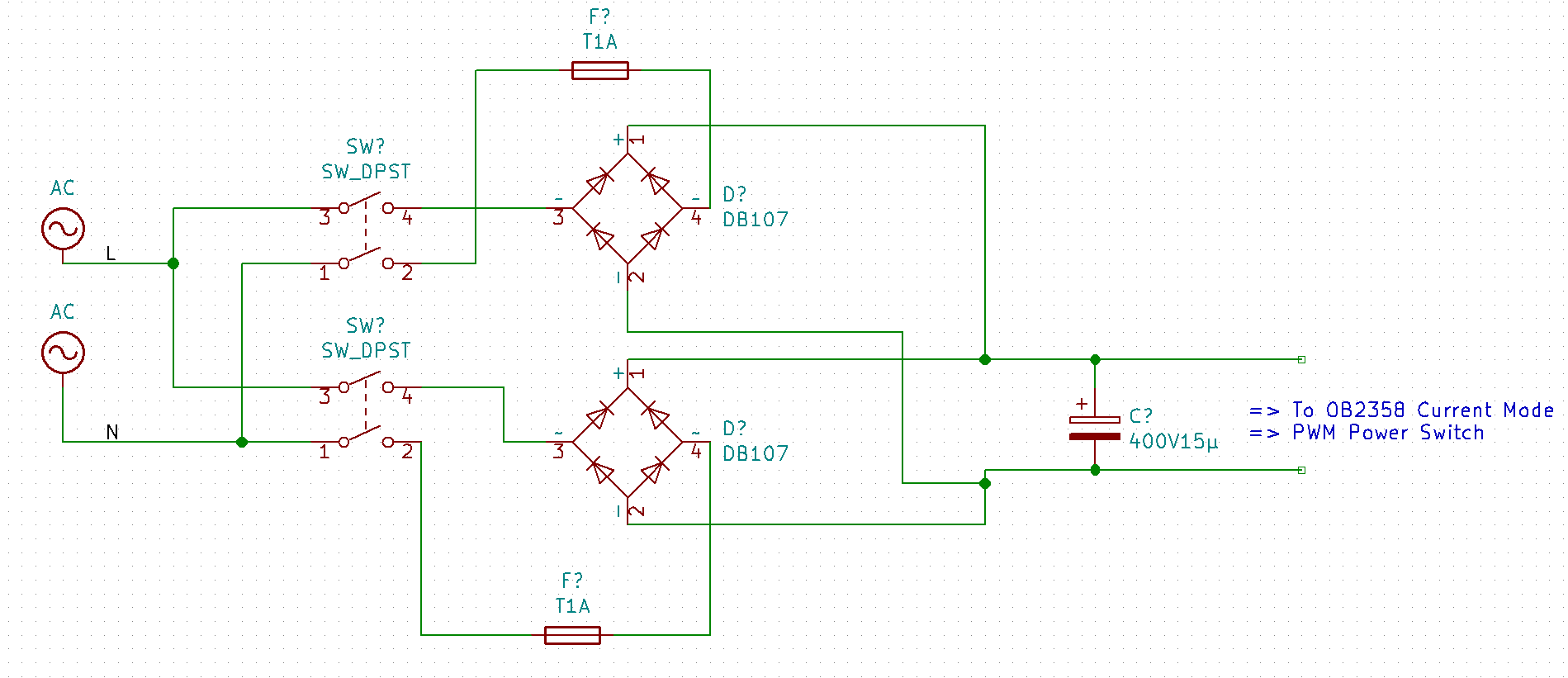 Flowerpower Led Growlight Powerlight 400w Repair P8 Wan Hung Lo Further Motor Wiring Diagram Furthermore Half Wave Rectifier Circuit Heres A Crude Sketch Of The Important Part Until It Goes Into More Standard Circuits For Driving Switching Power Supply Itself